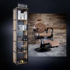 Pack Corner Barber Men Stories 91 produits avec Fauteuil . Offert : présentoir ,sticker,catalogues,6 recharges et tablier